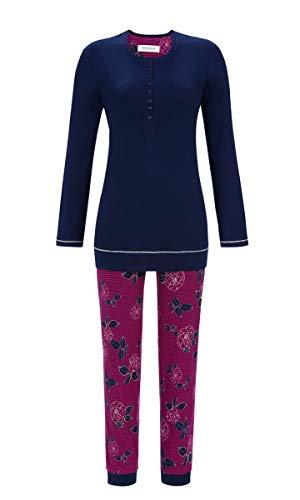 Ringella Damen Pyjama mit Langer Knopfleiste Night 46 9511236, Night, 46