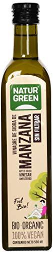 NaturGreen - Vinagre de Sidra de Manzana Bio, Sin Filtrar, Producto Ecológico, Acidificación Natural, Acidez 6% - 500 ml