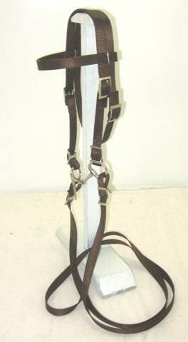 Party Ponies High order Pony Bridle Nylon Complete with Award BIT Brown