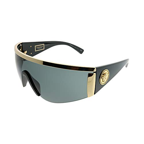 Versace Women's Shield Sunglasses, Gold/Grey, One Size