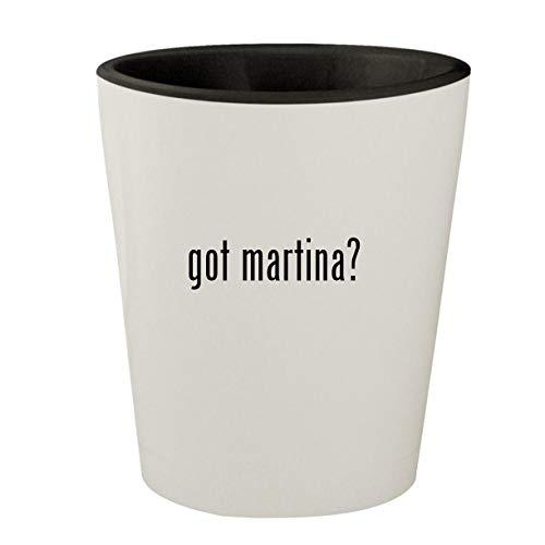 got martina? - White Outer & Black Inner Ceramic 1.5oz Shot Glass