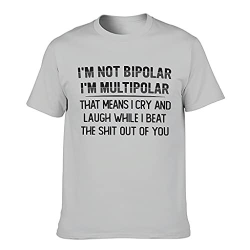 Camisetas – Vintage para hombres divertido sarcasmo Gris plateado. XL