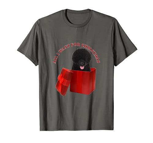 Todo lo que quiero para Navidad perro de agua portugués Camiseta
