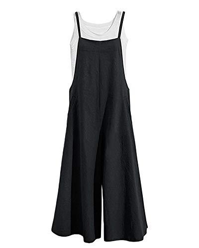 Petos de Pantalones Largo Mujer Casual Suelto Verano Baggy Harem Monos Jumpsuit Talla Grande