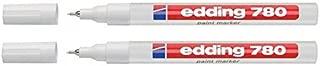EDDING 780 PAINT MARKER PEN EXTRA FINE LOW ODOUR - WHITE - PACK OF 2