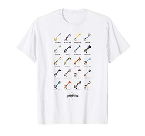 Disney Kingdom Hearts Keyblades with Names T-Shirt