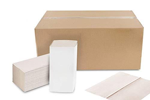 Falthandtücher Natur Premium | 5.000 Blatt | Recycling 1-lagig 25 x 23 cm | ZZ/V-Falz Papierhandtücher geeignet für Handtuchspender | Ideal für Gastronomie, Krankenhäuser, Praxen uvm.