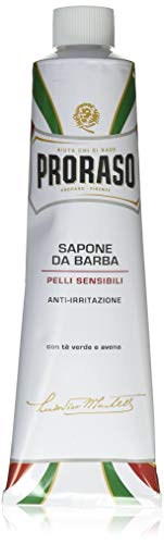 Proraso White Shaving Cream Pelli Sensibili, 1er Pack (1 x 150 ml)