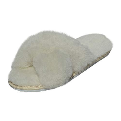 Hollert Damen Lammfell Sandalen Florida aus 100% Merino Schaffell Sandalette Sommerschuhe Pantoletten Hausschuhe versch. Farben Schuhgröße EUR 38, Farbe Weiß