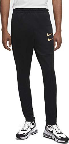 Nike Sportswear Swoosh Men's Pants DC2591-010 Black/Metallic Gold Black/Metallic Gold M