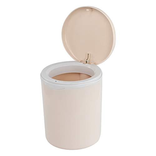 Asking Mini cubo de basura de escritorio de 2 litros, pequeño cubo de basura de escritorio de plástico, rosa