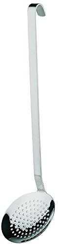 APS 00720 Schaumlöffel Ø 8cm, Länge 37cm, 18/8 Edelstahl schwere Qualität rutschsicherer Griff -PROFI-