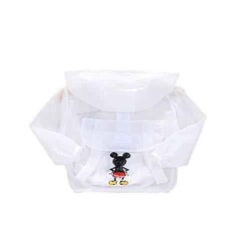 SENFEISM Moda Verano Infantil Protección Ropa Ligero Y Transpirable Mickey Mochila Niñas Protección Sol Ropa Chaqueta Tops