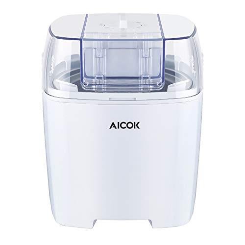 Aicok Eismaschine 1,5 Liter, Eiscreme Maschine, Sorbet Maschine, Frozen...