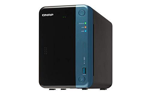 {QNAP(キューナップ) TS-253Be クアッドコア1.5 GHz CPU 2GB/4GBメモリ 2ベイ DTCP-IP/DLNA対応 ランサムウェアからも復元可}
