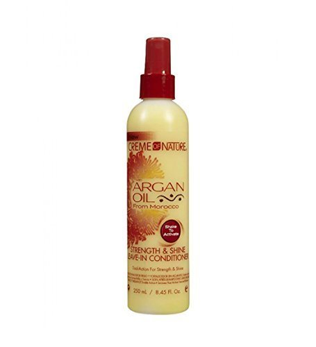 Creme of Nature with argan oil - Strength & Shine Leave-In Conditioner - 250 mL / 8.45 Fl Oz. (Pack of 3) by Creme of Nature