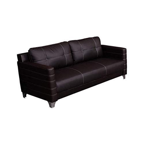 HEMFV Modern Leder 3 Sitzer Couch, Reclinersofa Wohnzimmer Ledercouchgarnitur for Wohnmöbel - Schwarz