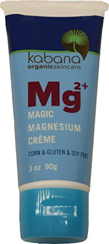 Magic Magnesium Cream | Restless Legs | Pain Management | Muscle Relaxation | Soy & Corn & Gluten & Fragrance Free | Organic Ingredients | Mg | 3 Ounce Tube