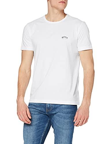 BOSS tee Curved Camiseta, Blanco (White 100), M para Hombre