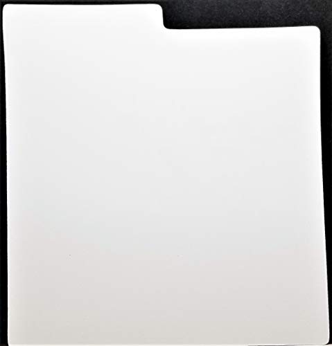 """Sleevie Wonder 10 Divider Cards for 12"""" LP Vinyl Record Album Collections Strong White Plastic Indexed Tab (+ 1 Free dj Magnet)"""