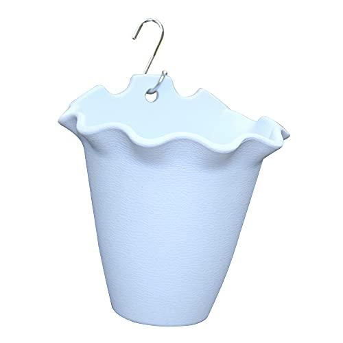 XINYE wuxinye Wall Appeso in plastica Fiore Secchio Domestico Decorazione Giardino Flower Flower Pot all'aperto Coperta pianta Rack Cestino Decorazione della Parete (Color : Sky Blue)