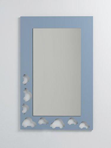 DECOHOGAR.SHOP Miroir rectangulaire Mural pour Enfants - Cars Grand - 60 x 90 cm - Laqué Rose