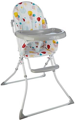 Safety 1st 2773969000 - Safety 1st kanji trona para bebé plegable, compacta y ajustable, trona bebé con cojín por niños 6 meses - 3 años, color isla bonita, unisex