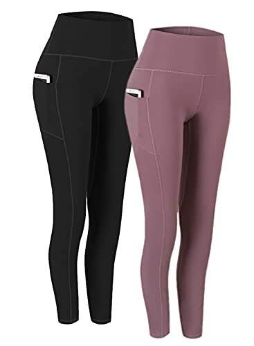 Fengbay 2 Pack High Waist Yoga Pants, Pocket Yoga Pants Tummy Control Workout Running 4...