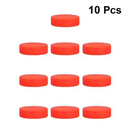 LIOOBO 10 Stück Hockey Pucks für Schießen Und Street Hockey (Orange)
