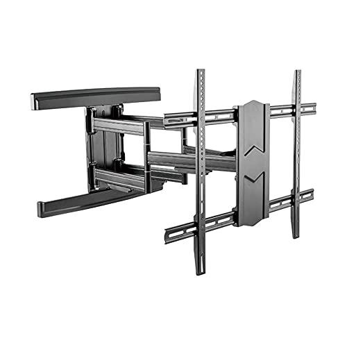 Soporte universal para TV de sobremesa, soporte de pared para TV, giratorio, inclinable, soporte para TV para televisores o monitores curvos planos LCD LED de 43-100 pulgadas de hasta 70 kg, VESA 600