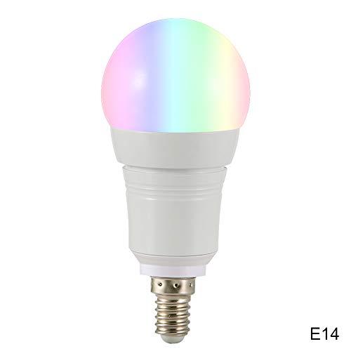 Liamostee E27/B22/E14 - Bombilla LED inteligente con WiFi, 16 millones de colores para Google Home Amazon Alexa