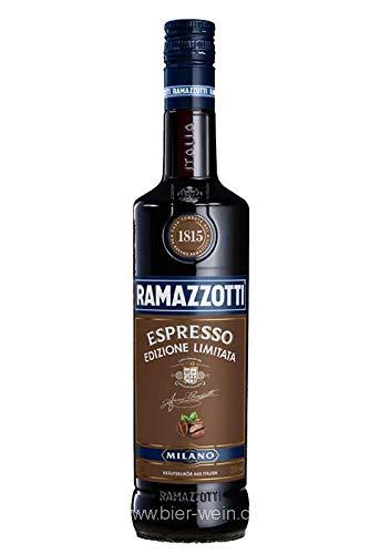 Ramazzotti Amaro Espresso – Italienischer Digestif mit 33 Kräutern – Kräuterlikör mit der perfekten Espresso Note – 1 x 0,7 L
