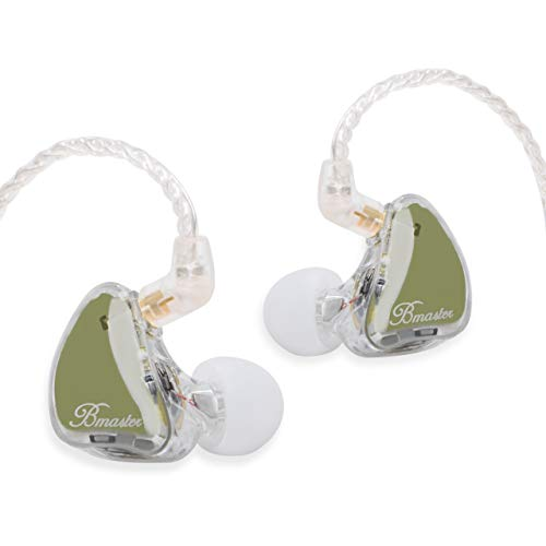 BASN Bmaster Triples Driver in Ear Monitor Wired Headphones with Detachable Cable Fit in Ear Earphones Suitable for Audio Engineer, Musician (Olive)