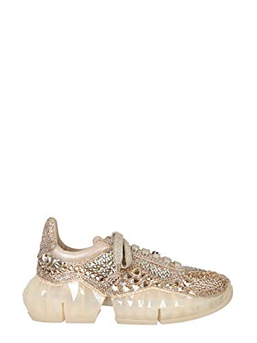 JIMMY CHOO Luxury Fashion Donna DIAMONDFXIHGOLDMIX Oro Pelle Sneakers | Autunno-Inverno 20