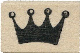 Tampon en caoutchouc - Tiny Round Crown - Cats Life Press 618 B