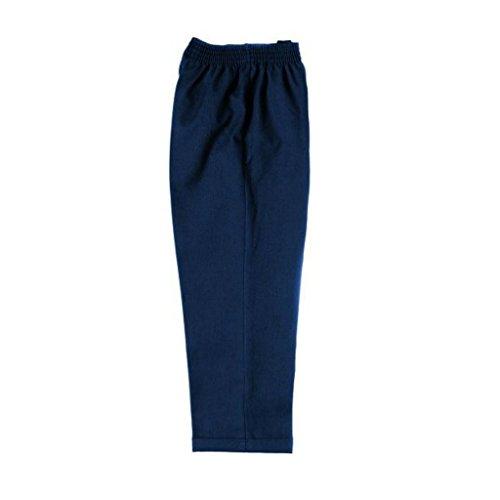 Pantalones escolares elásticos sin cremallera para niños de 2 a 12 años, color negro, gris y azul...