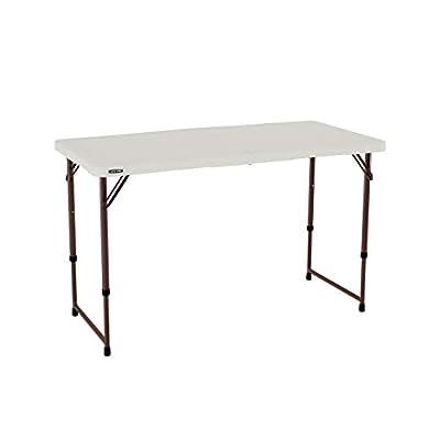 Lifetime Foot Fold-in-Half Adjustable Folding Table