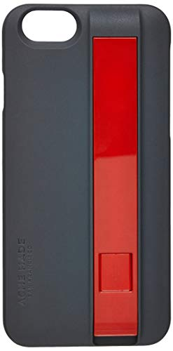 Estojo com Cabo de Carga e Sincronismo Lightning Usb Iphone 6, Acme Made, Capa Protetora Rígida, Cinza/Vermelho