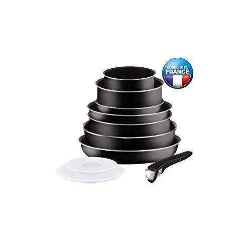 TEFAL INGENIO ESSENTIAL Batterie de cuisine 10 pieces L2008802 16-20-24-26-28cm Tous feux sauf induction