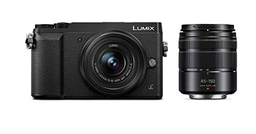 PANASONIC LUMIX GX85 Camera with 12-32mm and 45-150mm Lens Bundle, 4K, 5 Axis Body Stabilization, 3 Inch Tilt and Touch...