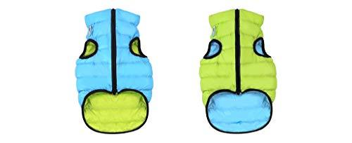 Abrigo Airyvest reversible ultraligero para perro, azul y verde, talla 11 para perro, talla L