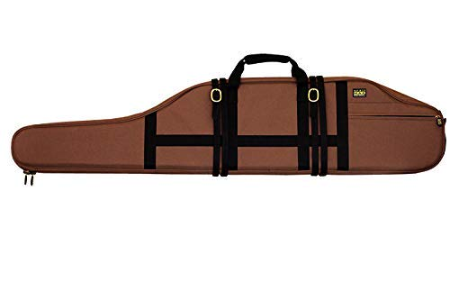 TrailMax Long Range Rifle Scabbard, Gun Case, Accommodates Oversized Scoped Hunting Rifles 54' Long with Bipod & Turrets, Water Resistant 600D Polyester, Secure to Saddle or ATV