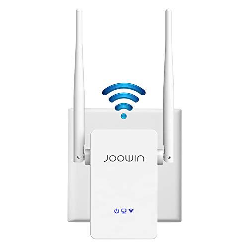 JOOWIN Repetidor WiFi 300Mbps WiFi Extender 2,4 GHz Amplificador WiFi Repetidor Señal WiFi Range Extender WiFi Booster Soporte Router/Ap/Modo Puente con WPS, con Puerto Ethernet