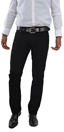 Marken Outlet Kriftel Herren Jeans Hose Straight Leg gerader Schnitt NEU Schwarz/Black Jeanshose W30 bis W38 verfügbar (W34/L34, Schwarz)