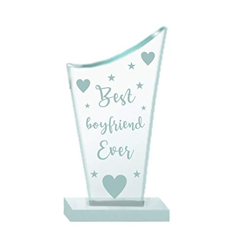 Paper Plane Design Valentines Day Gifts, Valentine Gift for Your Loved one, Crystal Mementos and Trophy for Couples Boyfriend...