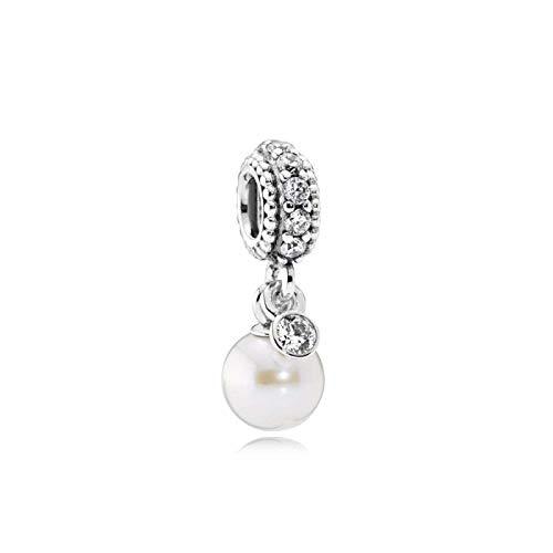 yuge 925 plata esterlina 1:1 perro hueso plata colgante y mariposa espumoso original joyería de moda femenina 791871P