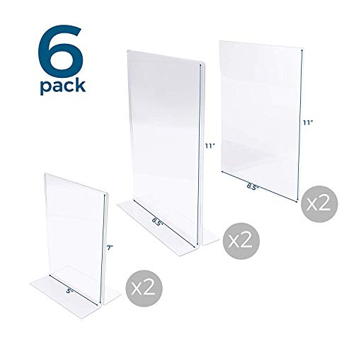 Acrylic Display Stand and Sign Holder: Clear Picture Frames. Clear Paper Menu Frame. Flyer, Brochure, and Document Holders. T-Style Plastic Tabletop Stands and Adhesive Wall Mount Frames.
