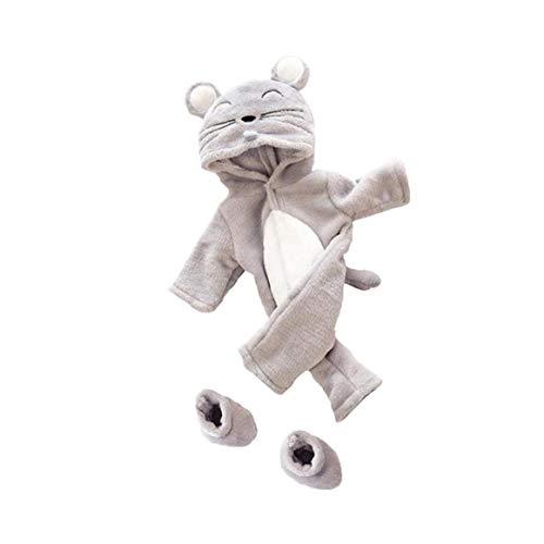 Unicoco Puppe Zubehör Mäuschen Entwurf Overall-dekor-Kleidung-Mantel-mädchen-Spielzeug-Multi-funktions-Mini-Cartoon-Tier Conjoined Pyjama Puppenkleidung Zubehör 1set