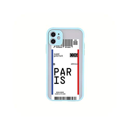 Hot ins Funny Bar Label World Tickes Travel City For iPhone 11 12 Pro Max M7 8 6 6S Plus XR X XS Max Shockproof Case Cover-8-iPhone11 Pro
