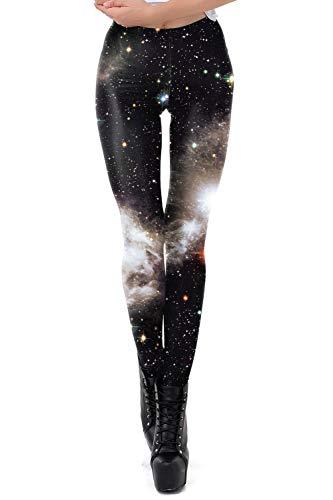 color cosplayer Women Galaxy Star Sky Printed High Waist Leggings Pants